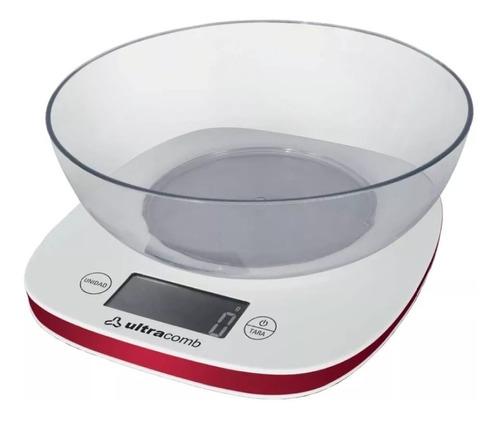 Imagen 1 de 7 de Balanza Cocina C/ Bowl Lcd Digital Ultracomb 1g A 3kg Precision