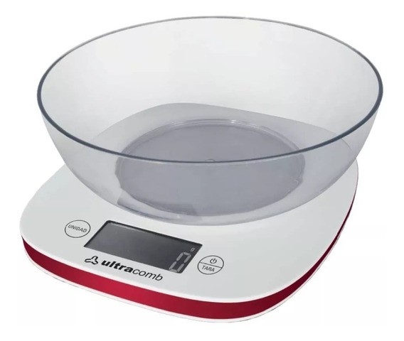 Balanza Cocina C/ Bowl Lcd Digital Ultracomb 1g A 3kg Precision