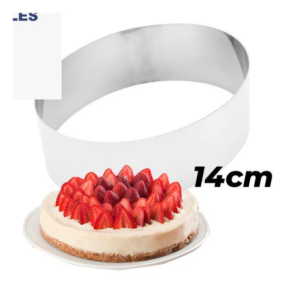 Aro Para Torta Bizcochuelo Molde De Acero Inoxidable 14cm