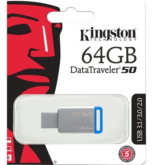 Pendrive 64 Gb Kingston Datatraveler 50 Usb 3.1/3.0/2.0 Its