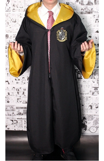 Capa + Gravata Harry Potter - Fantasia Carnaval Cosplay