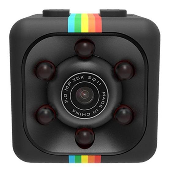 Mini Camera Espiã Com Luz Infravermelha E Sensor Movimento