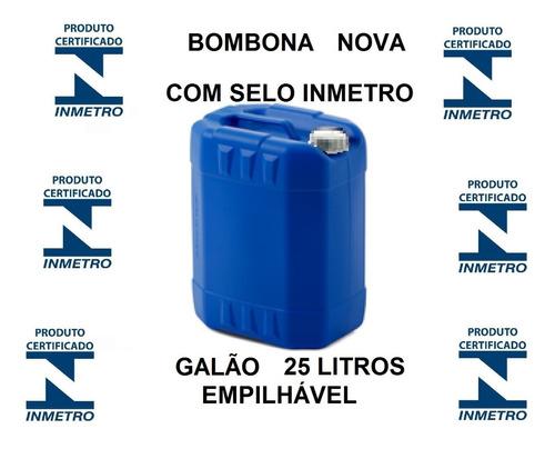 Bombona Galão 25 Litros Inmetro Nova Armazenar Gasolina Água