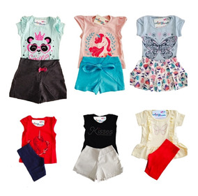Kit Lote 8 Conjuntos Roupa Infantil Feminina 1 A 14 Anos Ata