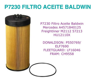 Filtro Para Aceite Servicio Pesado Baldwin P7230