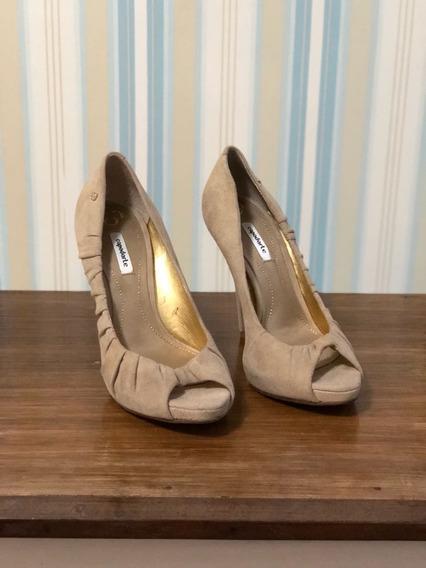 Sapato Feminino Salto Alto Creme Copodarte Nr 35