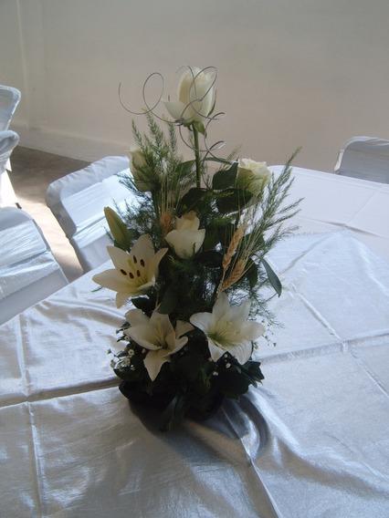 Arreglos Florales Para Bautizo Recuerdos Cotillón Y
