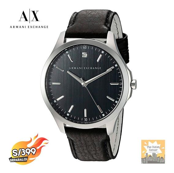 Reloj Armani Exchange Cuero Genuino Original Nuevo Ax2182