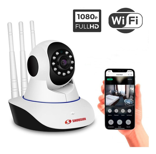 Imagen 1 de 8 de Cámara Seguridad Domo Ip Wifi 1080p Con Movimiento 360 1080p