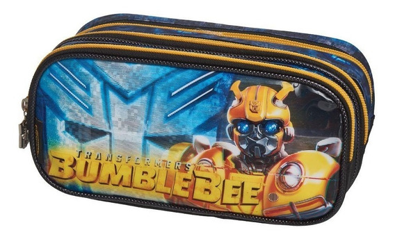 Estojo Triplo Transformers Glitch Bumblebee - Pacific