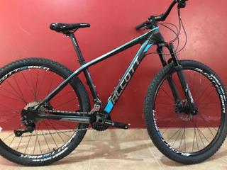 Bicicleta Alcott Fibra De Carbono Deore Biplato H. Aire