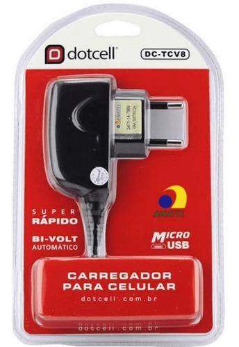 Carregador Celular Dotcell Dc- Tcv8 Micro Usb