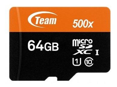Memoria Micro Sd Team Group 64gb Clase 10 Adaptador Celular