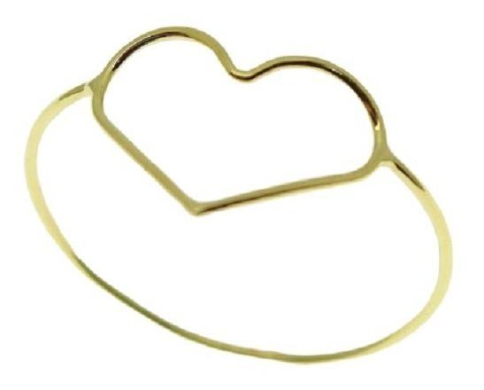 Anel Coração Vazado Ouro 18k Jsp1603-2