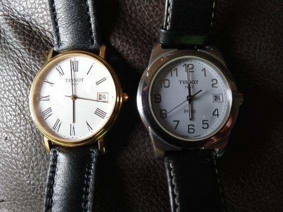 2 Relógios Suíços Tissot 1853 Ouro E Prata