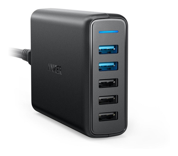 Cargador De Pared Anker Powerport 5 Puertos Quick Charge 3.0