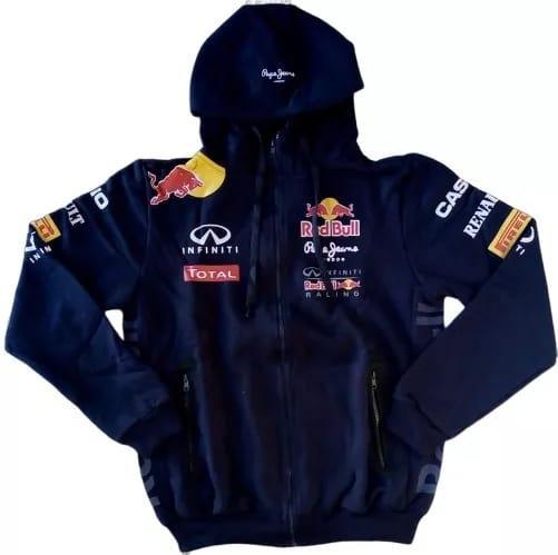 Casaco Moletom Red Bull Masculino Blusa Capuz Moleton Corrid
