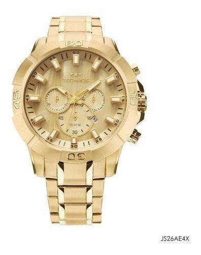 Relógio Technos Masculino Dourado Js26ae/4x