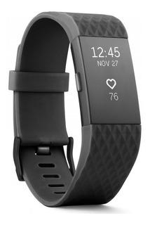 Fitbit Charge 2 Large Preto Monitor Cardiaco Chamadas Sono