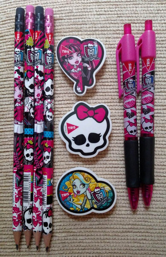 Imagem 1 de 1 de Kit Material  Escolar Monster High