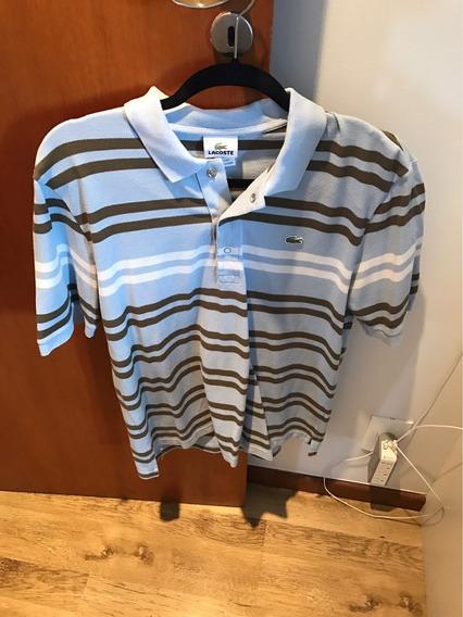 Camisa Polo Lacoste Listrada 3 Cores Original Tam M