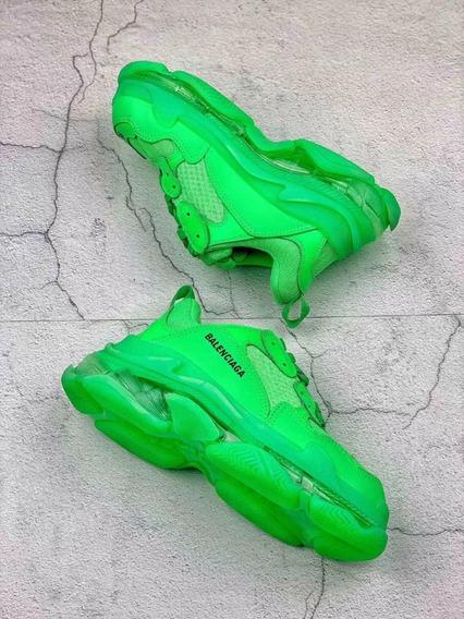 Balenciaga Triple S Neon Green Entrega Inmediata