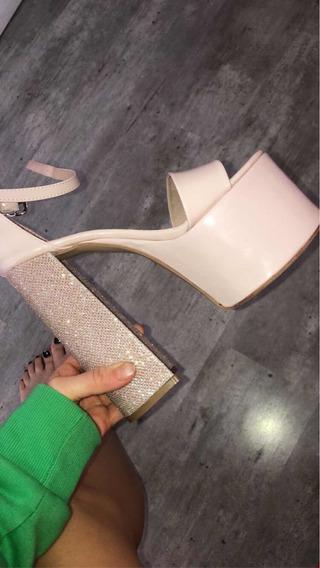 Zapatos De Fiesta Rosegold Altos