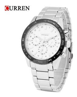 Reloj Hombre Acero Inox Curren 8017 Nuevos Fiables Garantía