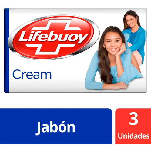Jabon Antibacterial Lifebuoy Cream 3 X 125 Gr