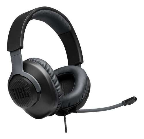Imagen 1 de 8 de Auriculares Gamer Jbl Quantum 100 Negro Con Microfono