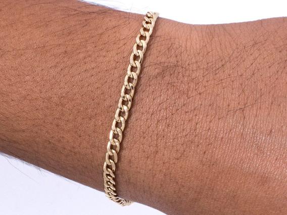 Pulseira Masculina Grumet De Ouro 18k 750 Fecho Mosquetão
