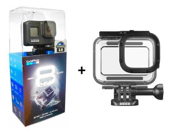 Câmera Gopro Hero 8 Black 12 Mp 4 K+caixa Estanque Original