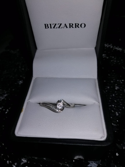 Anillo Bizarro 14kilates 14 Puntos De Diamante Oro Blanco 3g
