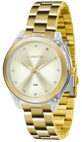Relógio Lince Dourado Feminino Lrg4431pc1kx