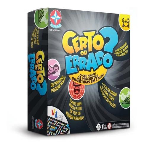 Jogo De Tabuleiro Game Certo Ou Errado? Original Estrela