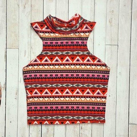 Calza Mujer Oxford Estampada Diseño Incaico Y Print