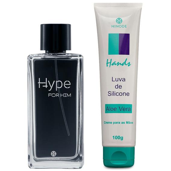 Perfume Hype Fragrâncias Masculina + Creme Para As Mãos Vip