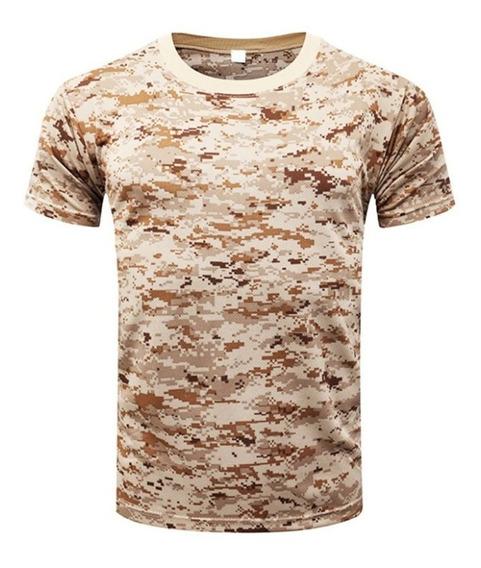 Playera Tipo Militar Tactica Camuflaje Transpirable Fitness