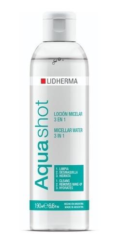 Agua Micelar Aquashot Locion 190ml Lidherma