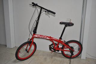 Bicicleta Dobrável Customizada Coca Cola