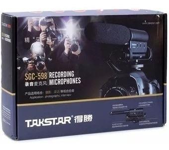 Microfone Direcional Takstar Sgc-598 Dslr Canon Nikon Sony