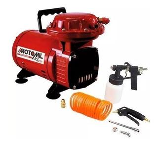 Compressor De Ar Direto 2,3 P Com Kit Bivolt Jetmais Motomil