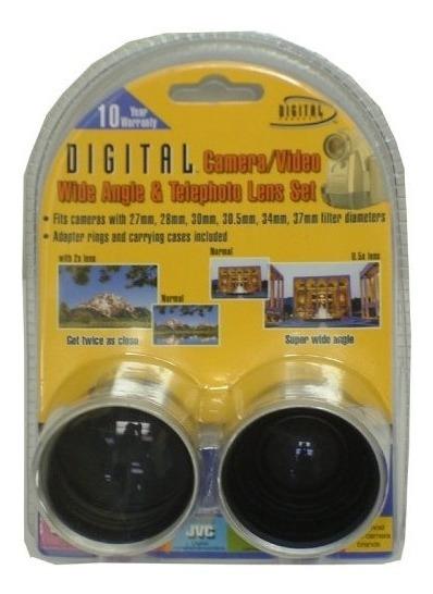 Lente Digital Concepts 37mm Teleandwide Camcorder Lens Kit
