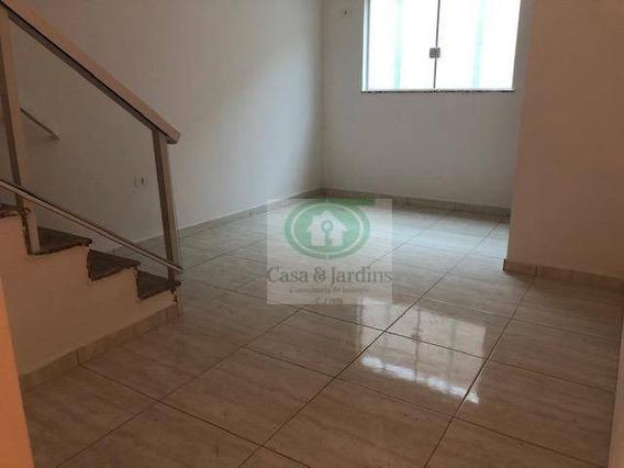 Casa Em Santos, 2 Suítes À Venda, 100 M² Por R$ 385.000,00 - Bairro: Marapé - Ca0802