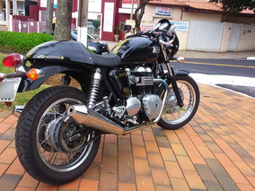 Café Racer Moto Triumph Thruxton 900 - Impecável