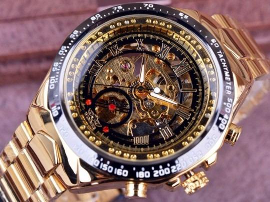 Promoção Masculino Relógio Masculino Luxo Automático Aço
