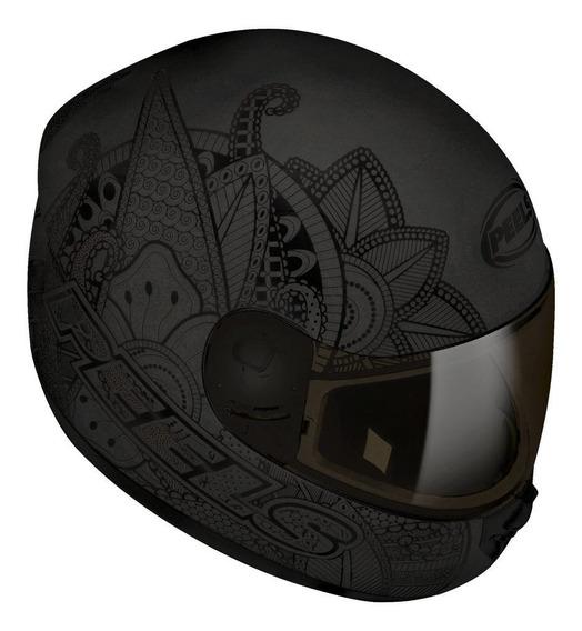 Capacete para moto integral Peels Spike Indie preto-grafite L