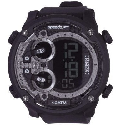 Relógio Esportivo Speedo Preto Com Grafite 80594 G0evnp1