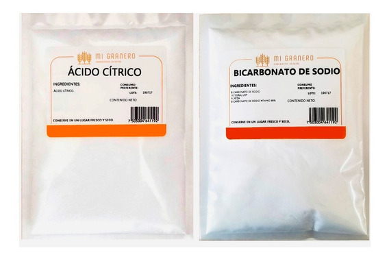 Ácido Cítrico Y Bicarbonato 1 Kilogramo A Granel