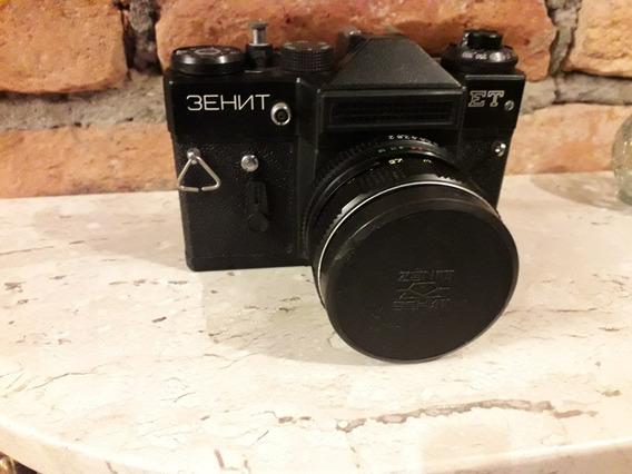 Camera Zenit Et Analógica 35 Mm 3ehnt Objetiva Helios 44w-4